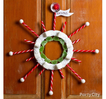 Candy Stick Wreath DIY