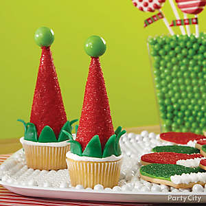 Elf Cap Cupcakes How To