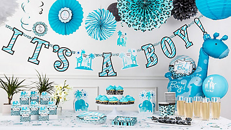Blue Safari Baby Shower Ideas