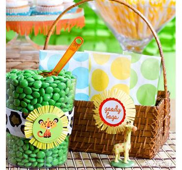Jungle Theme Baby Shower Favor Bags Idea