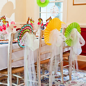 Jungle Theme Baby Shower Chair Decorating Idea