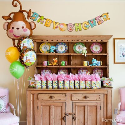 Jungle Theme Baby Shower Favor Display Idea