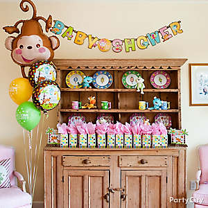 Jungle Theme Baby Shower Favor Display Idea ...