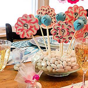 Gender Reveal Cookie Sticks Idea