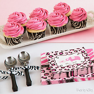 Girl Baby Shower Charms Accents Idea