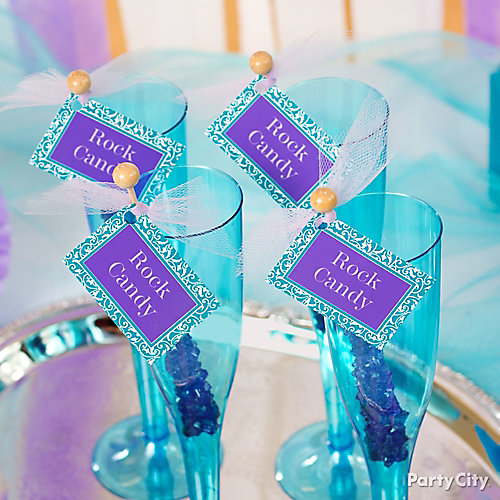 Personalized Rock Candy Swizzle Sticks Idea