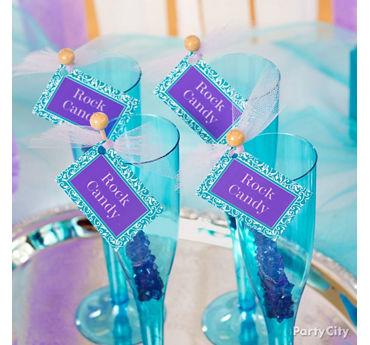 Personalized Rock Candy Swizzle Sticks Idea
