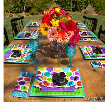 Colorful Grad Tableware Idea