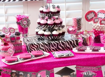 pink zebra grad dessert ideas spoil them with cupcakes candy cookies smart ideas for drinks