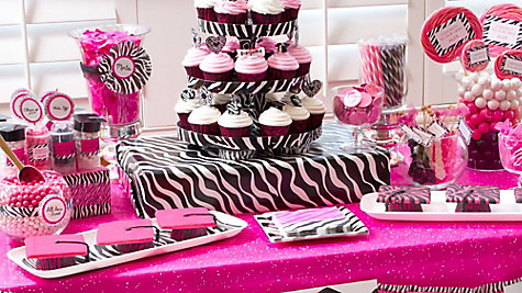 Pink & Zebra Graduation Dessert Ideas