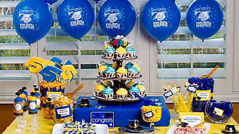 School Colors Graduation Party Ideas