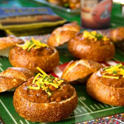 Mini Chili Bread Bowls Idea
