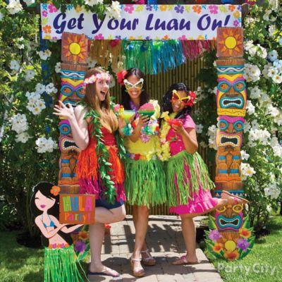Luau Photo Booth Ideas
