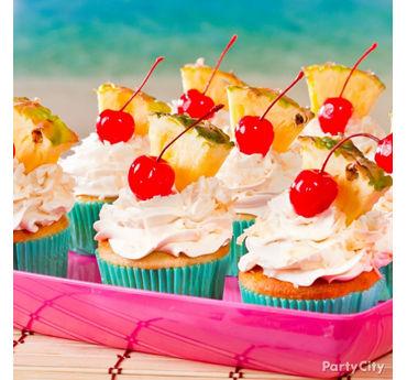 Tropical Pina Colada Cupcakes Idea