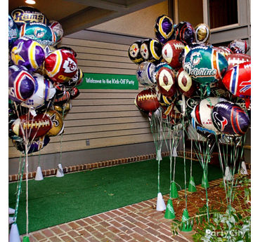 Football Party Entry Decorating Ideas & Football Party Ideas - Party City | Party City