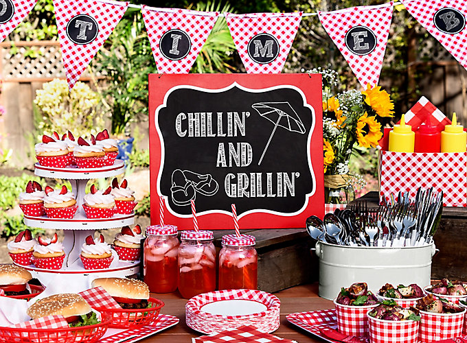 Gingham picnic food and drink ideas summer party ideas for Party food and drink ideas