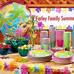 Summer Buffet Table Display Idea