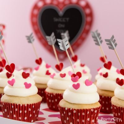 Cupids Arrow Cupcake Idea