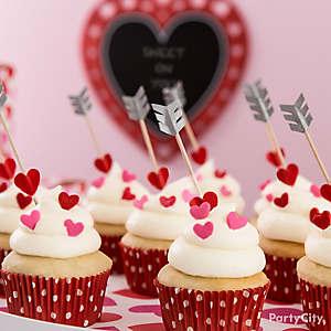 Cupids Arrow Cupcake Idea