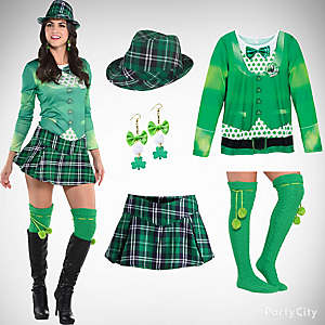 St. Patricks Sassy Plaid Outfit Idea