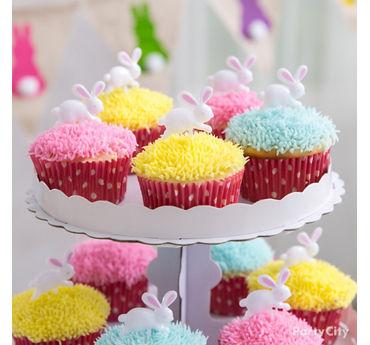 Easter Bunny Hop Cupcakes Idea
