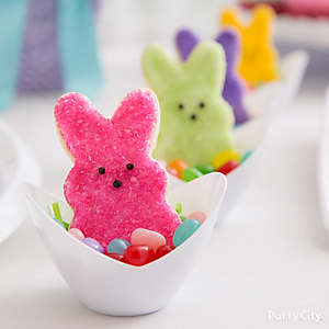 Peeps Bunny Cookie Nest Idea