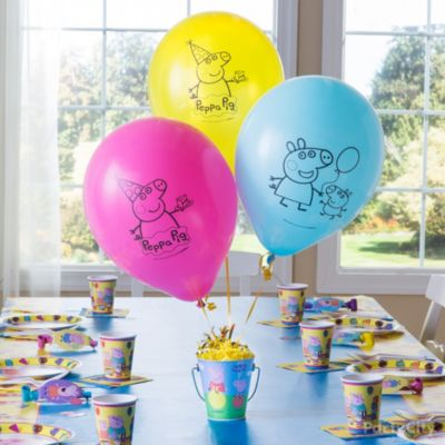 Peppa Pig DIY Centerpiece Idea