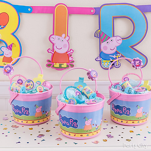 Peppa Pig Favor Bucket Idea
