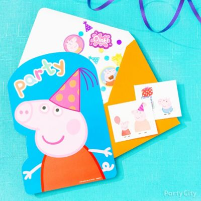 Peppa Pig Invite with Surprise Idea