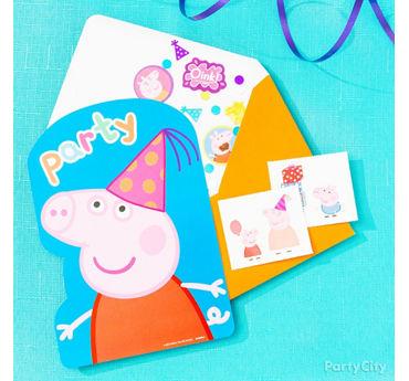 Peppa Pig Invite with Surprise Idea