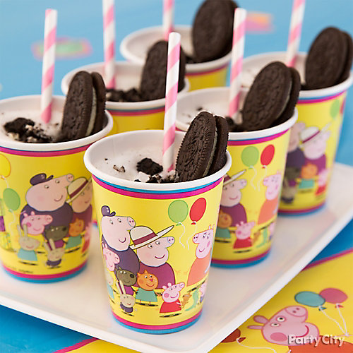 Peppa Pig Muddy Puddle Drink Idea