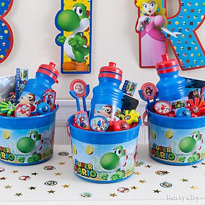 Super Mario Favor Bucket Idea