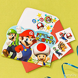 Super Mario Invite with Surprise Idea