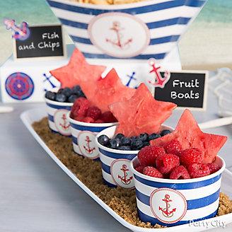 Nautical Fruit Cup Idea