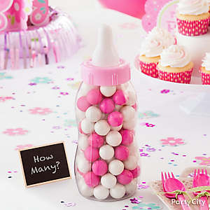 Pink Baby Shower Candy Game Idea