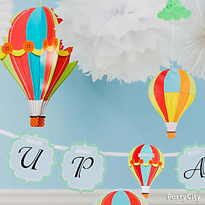 Clouds and Balloons Decorating Idea