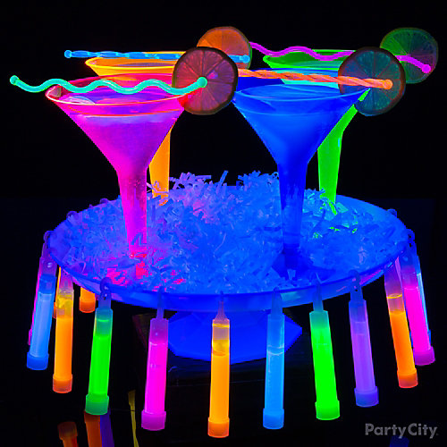 Black Light Martini Cocktail Idea