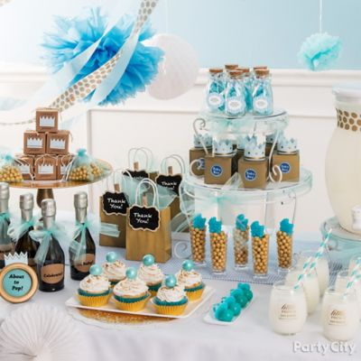 prince baby shower champagne   party city