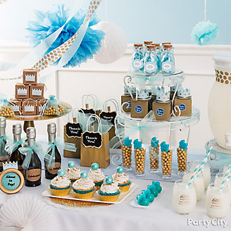 get inspired prince baby shower favor table idea