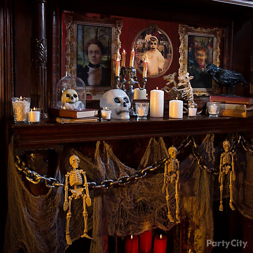 Macabre Mantel Decorating Idea