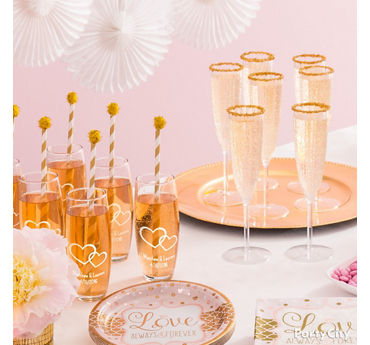 Bridal Shower Champagne Idea