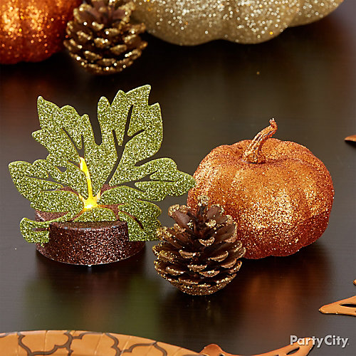 Glittered Table Accents Idea