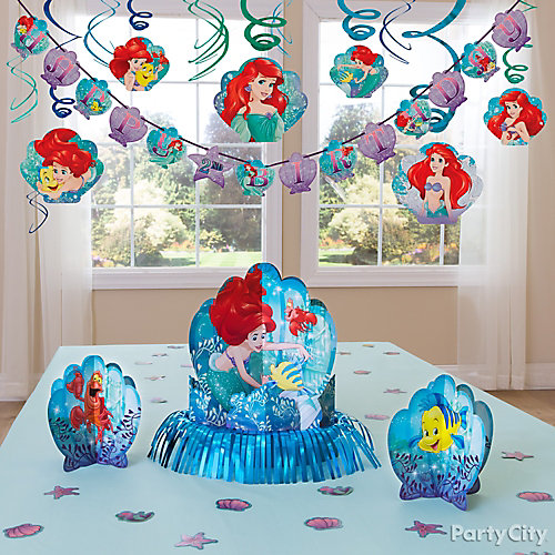 Little mermaid essential decorations idea party city for Ariel birthday decoration ideas