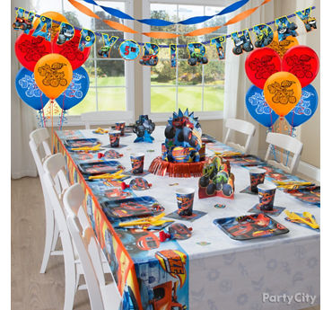 Blaze Party Table Idea