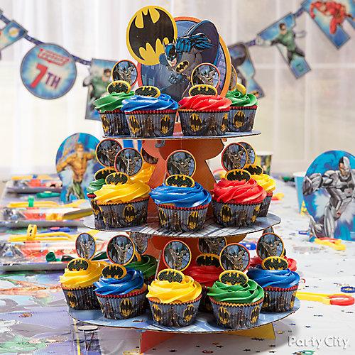 Justice League Cupcake Tower Idea