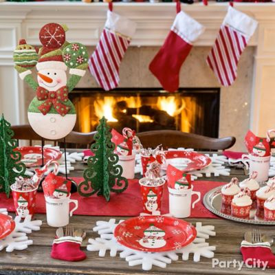 Friendly Snowman Tablescape