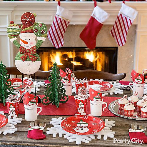 Friendly Snowman Tablescape