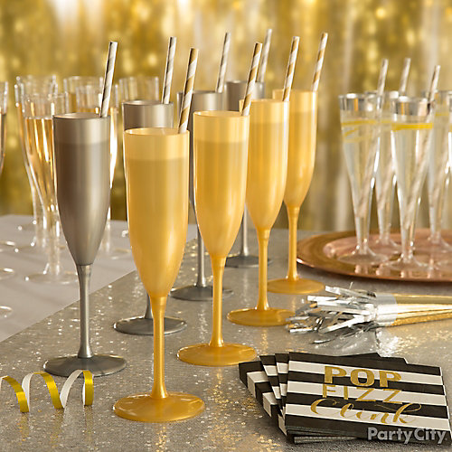 Champagne Flutes Display Idea