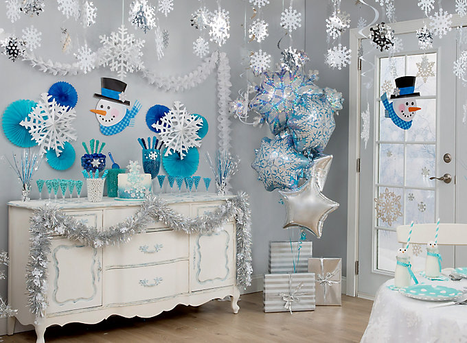 Snowflakes and Snowman Theme Party