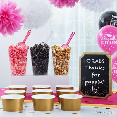 Graduation Popcorn Bar Idea